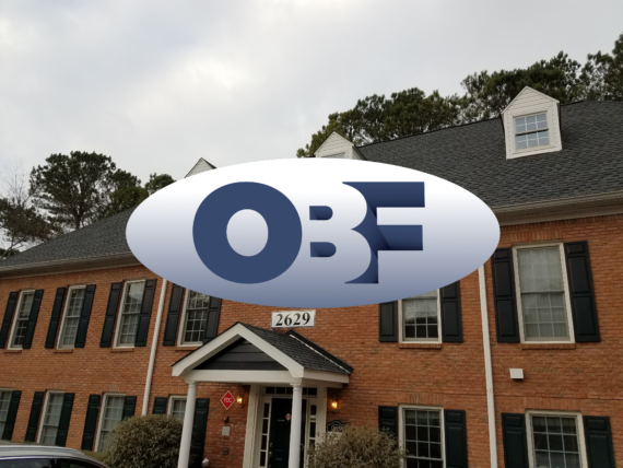OBF Logo on top of the home office in Marietta