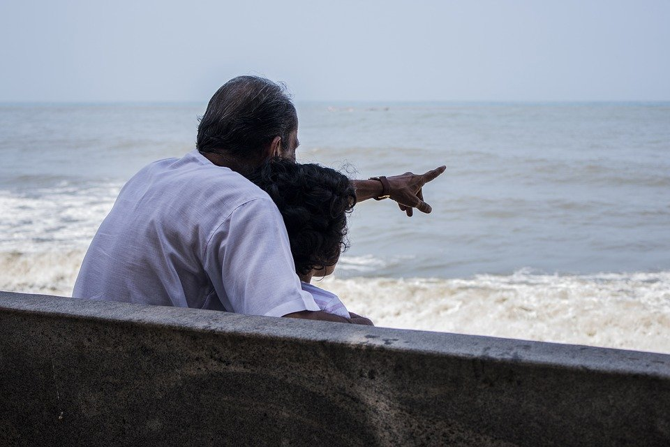 Parent pointing direction to child
