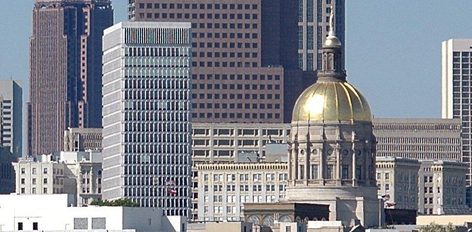 Georgia Skyline with Capitol Building